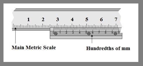Reading Steps of Vernier Calipers Measurements