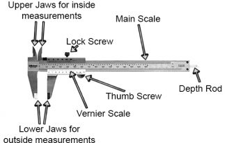 Vernier Caliper Parts Names & Possible Replacements